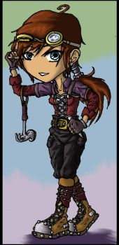 Steampunk Chibi for singingaboutthesnow-commission by vanna6yaoiheaven