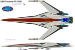 USS CYCLONE PC-1200 by bagera3005
