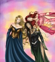 three elf ladies by livska