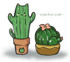 Cactus Cat by pitatenlover