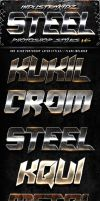 Metal Steel Photoshop Layers Styles V6 by Industrykidz