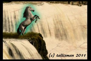 Waterfall Horse by TallyBaby13