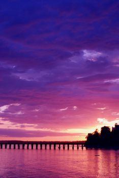 Purple Sunset by Sunita-Sinclair