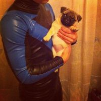 Nightwing and Pug by GraysonFin