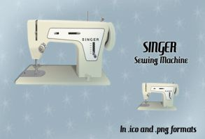Singer Sewing Machine Icon by FangsAndNeedles