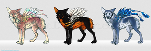 Feonix Adoptables by Feathered-Manx