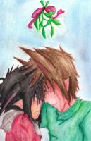 Sal and Jonah- mistletoe by yokoshimaneko1
