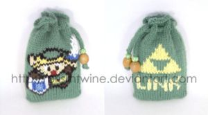 Small Link knit pouch by prismtwine