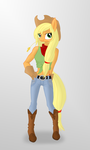 Applejack - Anthro by romus91