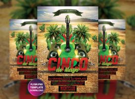 5 de Mayo Flyer Poster Template by Grandelelo