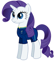 EM-Pony: France - Rarity by Isegrim87