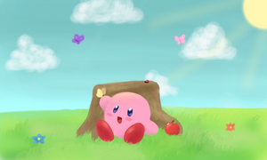 Kirby drawn on 3DS by Gumwad201