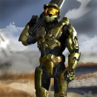 master chief painted by WinterSpectrum