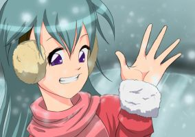 enjoy the snow by Bariarti
