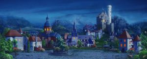 Medieval village_night by inSOLense