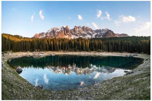 Lago Carezza Panorama by JamesRushforth