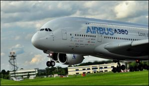 Airbus A380 Take off / FAS 2012 by Somebody-Somewhere