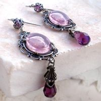 Purple Crystal Earrings by Aranwen