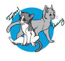 Dovewing And Ivypool by NekoTrebleNote