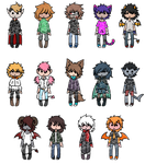 Chibi Adopts- OPEN by SkysDesigns3