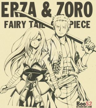zoro and erza by BooS2
