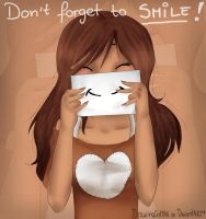 Don't forget to smile! by Drawing-Heart