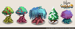 Trees Concept-Art by TheRealRaki