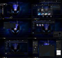 windows 7 theme blue glass alien by tono3022