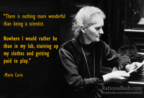 Marie Curie on being a Scientist by rationalhub