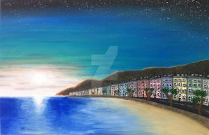'Llandudno Beach' - Acrylic Painting - (Sep 2012) by AiluroArtist