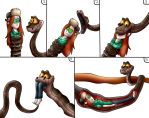 Kaa And Wendy Vore by jerrydestrtoyer
