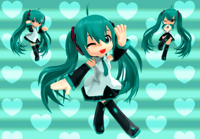 Cartoony Chibi Miku by Arlymone