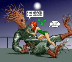 TLIID Valentine's Day 2013 - Groot and Poison Ivy by Nick-Perks