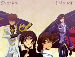 Lelouch and Suzaku by EdgeofTomorrow