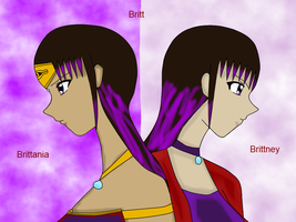 two versions of Britt colored by QueenBrittStalin