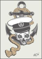 Skull with anchor by snikers15