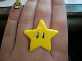 Mario Star Ring by QueenAliceOfAwesome