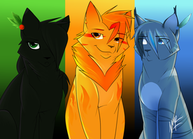 The Three (Anime Style--Speedpaint Included) by DrakynWyrm