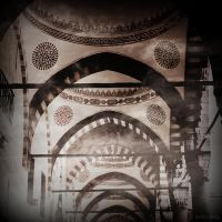 Blue mosque  Arches by lostknightkg