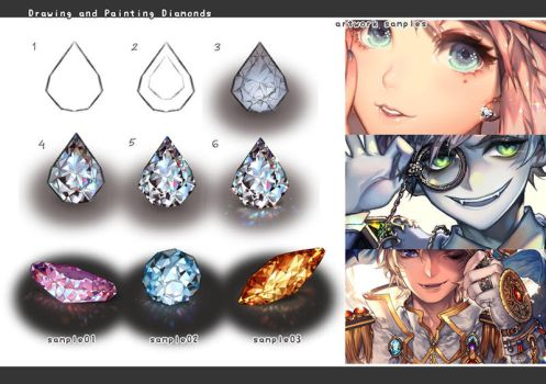Drawing jewelry: diamonds by kawacy