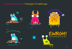 cute monster contest designs by dschunai