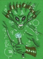 Kit Fisto sketch card by TolZsolt