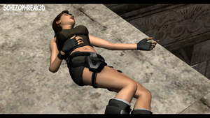 Lara Croft - Unconscious 7 by Schizophreak3D
