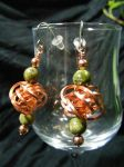 Copper Love Knot With Unakite Earrings by BacktoEarthCreations