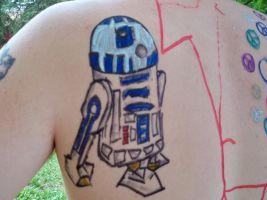 r2 d2 Sharpie Tattoo by bueatiful-failure