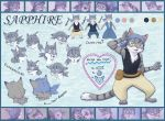 Sapphire Character Ref by Saphamia