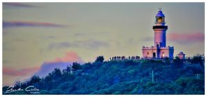 byron Bay Lighthouse from afar by jaydoncabe