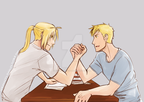 Arm Wrestling by Perfectlykawaii93