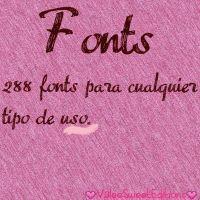#Recursos Para Photoscape - Fonts by ValeeSweetEditions