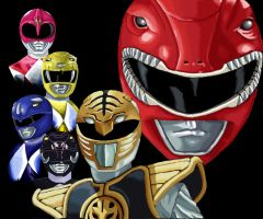Mighty Morphin Power Rangers by racookie3
